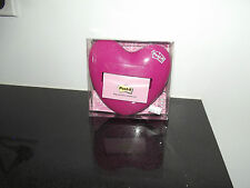 pink heart pop up note dispenser