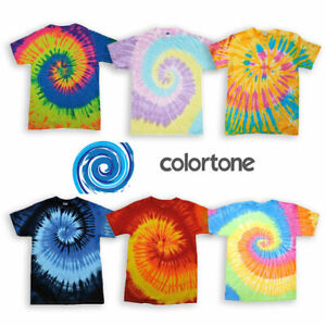 Tie Dye T-Shirt Top Tee Tye Die Music Festival Hipster Indie Retro Unisex Tees