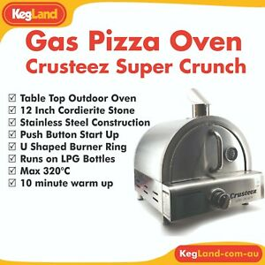 "Crusteez Outdoor Portable LPG Gas Pizza Oven 12"" Stone Alternative to Ooni"