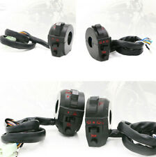 """1 Pair 7/8"""" Motorcycle Handlebar Black Control Switch Turn Signal Horn ON OFF"""