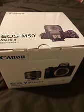 Canon EOS M50 Mark II Kit w/EF-M 15-45mm (White) *NEW*