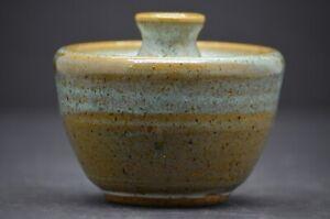 Stoneware Pottery Bud Vase artist mark WP 81 Mid Century Modern
