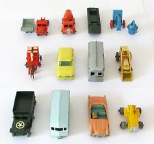 Vintage Lesney Matchbox Lot of 12 Metal Wheel Gray Wheel Models FIXERS 1950s