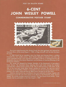 #1374 6c John Wesley Powell Stamp Poster - Unofficial Souvenir Page Flat