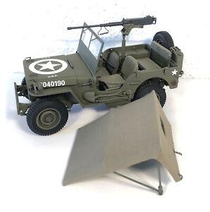 Danbury Mint Diecast World War II Jeep Replica 1:16 W Original Box