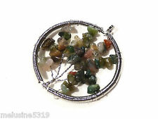 Bijoux pendentif  pendentif pierre agate arbre de vie  pendentif