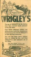 "Advertising- Newspaper Wrigley's Gum ""Universal Military Service Gum"" Navy 1918"
