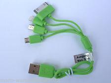 (6,80€/Einheit) 1x Cartrend Micro Mini USB Auto Ladekabel 4in1 CE-geprüft grün