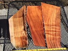 """4A Ultra Curly Koa From Hawaii 3@19""""x4-9""""x3/4-2"""" For Knife Handles"""