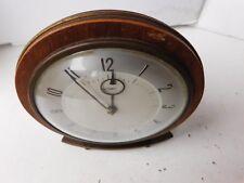 Vintage Retro Art Deco Metamec Wood mantle clock Spares Or Repairs free pp UK