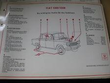 Shell Schmierplan / Wartungsdienst  - Fiat 1300 / 1500