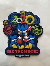 Disney Parks 2020 WDW See The Magic Mickey Minnie Castle Fireworks PVC Magnet