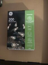 New ! GE 200ct ConstantOn Clear Miniature Christmas Lights Green Wire
