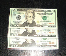 2004 Uncirculated $20 Notes - #1096 to #1098 - San Francisco - 3 In Sequence