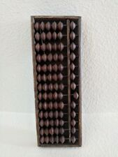 Vintage Wooden brown Abacus with 13 Columns and 78 Beads