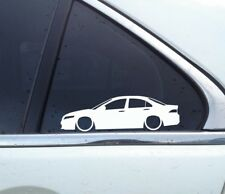 2X Lowered car outline JDM stickers - For Honda Accord sedan (CL7 , 2003-2007)