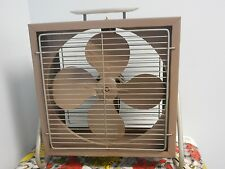 Vintage Metal Industrial Hunter Box Floor Fan 2 Speed Swivel Tilt Box Fan