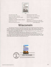 #9810 32c Wisconsin 150 Years Stamp #3206 Souvenir Page