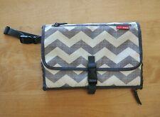 Skip Hop Pronto Baby Changing Station Diaper Clutch - Gray Chevron Stripe