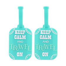 Luggage Tag Silicone Keep Calm & Travel On Tags Duffel Suitcase 2 Travel Tags