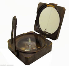 Heavy Antique Brass Surveyor'S Transit Brunton Compass