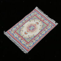 Lovely Dollhouse Miniature Large Fancy Woven Area Rug #SD699D