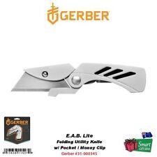 Gerber EAB Lite, Fine Edge Folding Utility Knife, Pocket/Money Clip #31-000345