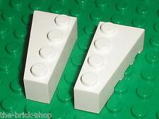 Lego White Wedge 4x2 ref 41767 41768 / set 7751 10129 75053 4403 7198 4402 21050