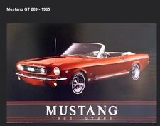 1965 Mustang GT289 Convertible. Out Of Print Car Poster! Own It !!