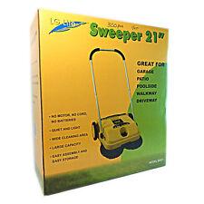 "LG Lite 21"" Garage Patio Poolside Driveway Walkway Push Sweeper Model 90921"