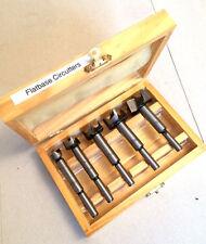 5 Piece Forstner Wood Drill Bit Set In Wooden Case 15 20 25 30 35 Woodworking