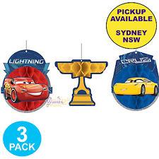 Disney Cars 3 Party Supplies Honeycomb Lightning McQueen Birthday Decorations