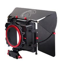 Kamera Professional Matte Box Kit w/Universal Donuts for 15mm Rod DSLR Camera