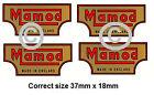 Mamod Decals Logos steam  x 4 Pieces - EU WIDE POST