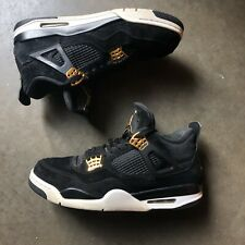 Men's Nike Air Jordan 4 IV Royalty Black Metallic Gold White Sz 11 (308497-032)