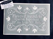 Pochoir Adhésif Réutilisable 30 x 20 cm Affiche Vintage Fleurs / Made in FR