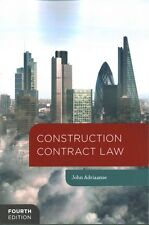 Construction Contract Law by John Adriaanse Paperback, 2016    (g12)