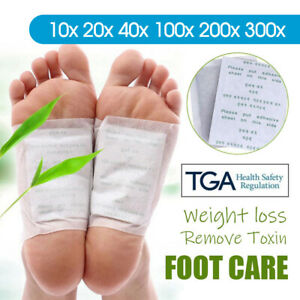 Detox Foot Patch Pads Natural plant Toxin Removal Sticky Adhesives 10-300PCS