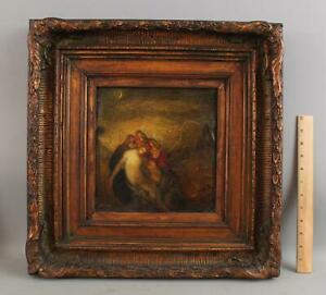 Antique ABRAHAM HARRITON Religious Jesus Christ Removed from Crucifix Painting