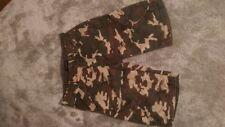 Cotton Blend Camouflage Regular Loose Fit Shorts for Men