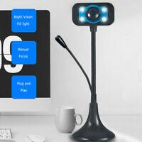 USB 2.0 HD 1080P Webcam Web Camera Cam w/ Microphone For PC Laptop Desktop Hot