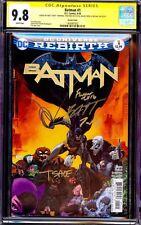 BATMAN 1 VOL 3 CGC 9.8 SS TIM SALE VARIANT LIMITED EXCLUSIVE COVER 2016 4x REBIR