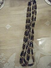 3 STRAND LIGHT AND DARK BROWN WITH SILVER ACCENT 14 INCH