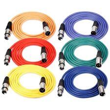 6 Pieces 6,5 pieds/2m Cable pour Microphone XLR Male a XLR Femelle de Peau  I7B1