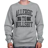 Allergic To Bulls**t Funny Gym Workout Gift Crewneck Sweat Shirts Sweatshirts