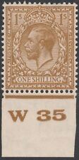1924 SG429 BLOCK CYPHER 1s BISTRE BROWN CONTROL W35 MINT HINGED
