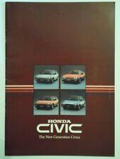 HONDA CIVIC orig 1984 UK Mkt Sales Brochure - Mk2 2nd Gen S Shuttle CRX Coupe