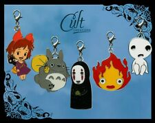 Ghibli metal & enamel pet cat dog collar charms Totoro Kiki No Face Kodama