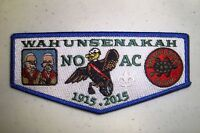 WAHUNSENAKAH LODGE 333 COLONIAL VIRGINIA ONE 2015 NOAC OA 100TH CENTENNIAL FLAP