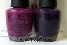 2 x Opi Nail Lacquer Espana Pamplona Purple & Cola A Grape Affair Cream Lot